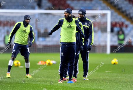 Nicolas Anelka of West Bromwich Albion during warm-up