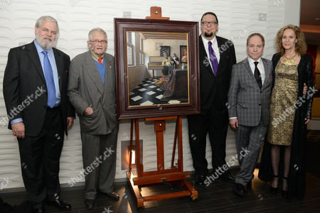 Stock Photo of Tim Jenison, David Hockney, Penn Jillette, Teller, Farley Ziegler