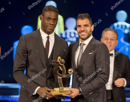 Mario Balotelli and Simone Perrotta
