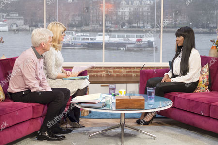 Phillip Schofield and Holly Willoughby with Naomi Oni