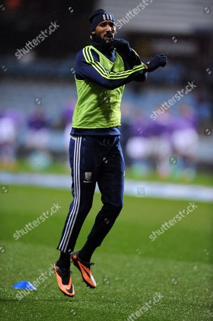 Nicolas Anelka of West Bromwich Albion during the pre match warm up