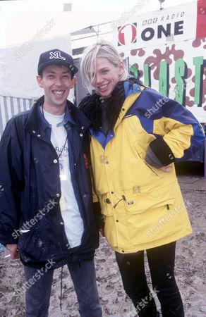 Steve Lamacq and Zoe Ball