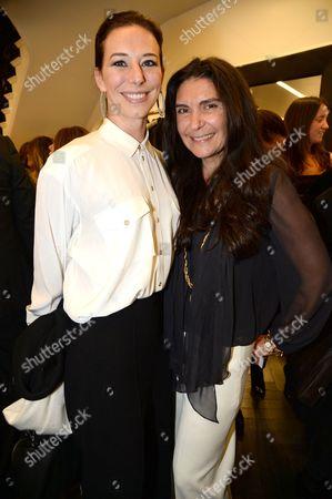 Stock Image of Kristina Blahnik and Sagra Maceira de Rosen