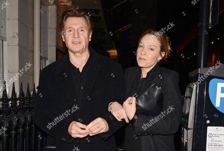 Editorial image of Liam Neeson at the Samosan restaurant, London, Britain - 30 Jan 2014