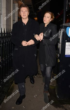 Stock Picture of Liam Neeson with his girlfriend Freya St. Johnston