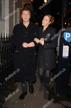 Editorial picture of Liam Neeson at the Samosan restaurant, London, Britain - 30 Jan 2014