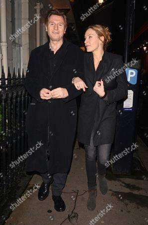 Stock Image of Liam Neeson with his girlfriend Freya St. Johnston