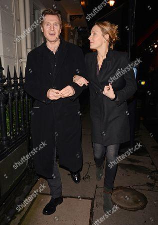 Liam Neeson with his girlfriend Freya St. Johnston