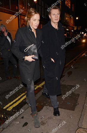 Editorial photo of Liam Neeson at the Samosan restaurant, London, Britain - 30 Jan 2014