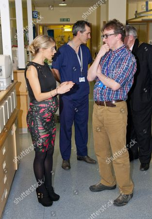 Melanie Slade touring the Children's Intensive Care Unit with Dr Iain Macintosh
