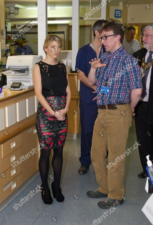 Editorial photo of Melanie Slade becomes patron of the Children's Air Ambulance, Southampton General Hospital, Britain - 30 Jan 2014