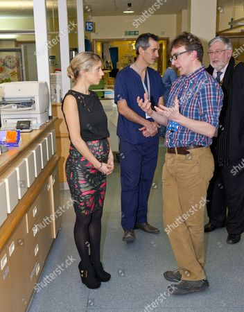 Stock Picture of Melanie Slade touring the Children's Intensive Care Unit, with Dr Iain Macintosh