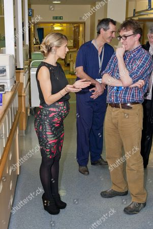 Melanie Slade touring the Children's Intensive Care Unit, with Dr Iain Macintosh