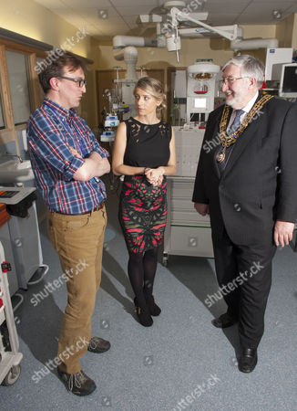 Editorial image of Melanie Slade becomes patron of the Children's Air Ambulance, Southampton General Hospital, Britain - 30 Jan 2014