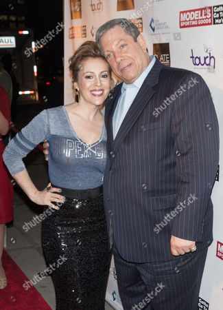 Alyssa Milano and Mitchell Modell (CEO, Modell's)