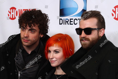 Taylor York, Hayley Williams and Jeremy Davis of Paramore