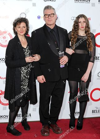 Mark Kermode with wife Linda and daughter