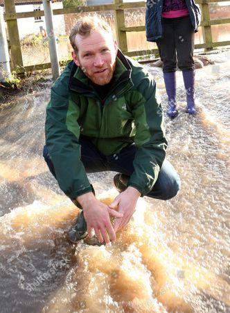 Liberal Democrat MP Jeremy Browne of Taunton Deane, Burrowbridge on the Somerset levels
