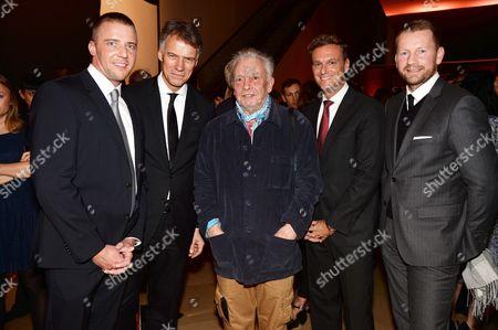 Guest, Claus-Dietrich Lahrs, David Bailey, Stephan Born and Gerd von Podewils