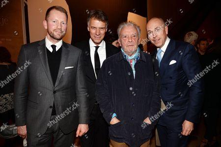 Gerd von Podewils, Claus-Dietrich Lahrs, David Bailey and Dylan Jones