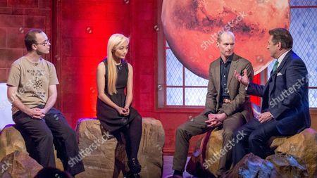 Stock Image of Ryan MacDonald, Maggie Lieu and Bas Lansdorp with Alan Titchmarsh