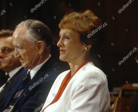 Joan Mondale and former U.S. Senate Majority Leader and U.S. Ambassador to Japan Mike Mansfield