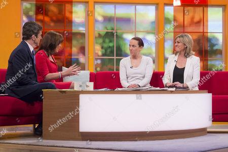 John Stapleton and Lorraine Kelly with Liane Avery and Jacqui Marson