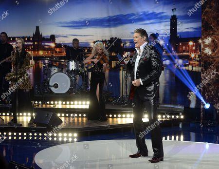 Editorial image of 'Hasselhoff - a Swedish Talkshow' TV Programme, Stockholm, Sweden - 19 Jan 2014