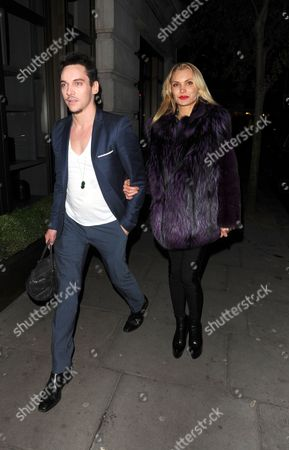 Editorial photo of Jonathan Rhys Meyers and Marinika Smirnova out and about in London, Britain - 04 Feb 2014