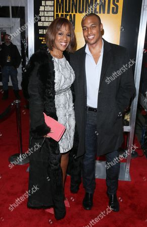 Gayle King with her son William Bumpus Jr.