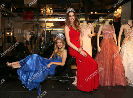 Miss England, Kirsty Heslewood and Miss Staffordshire, Jessica Landells model the Aftershock London's Spring/Summer 14 collection