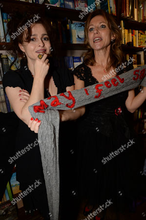 Stock Photo of Helena Bonham Carter and Allie Byrne Esiri