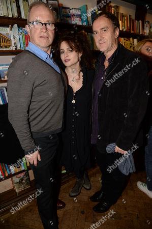 Harry Enfield, Helena Bonham Carter and Angus Deayton