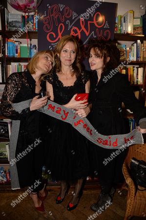 Helena Bonham Carter, Helen Fielding and Allie Byrne Esiri