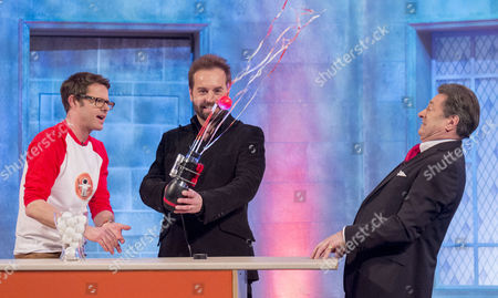 Stefan Gates and Alfie Boe with Alan Titchmarsh