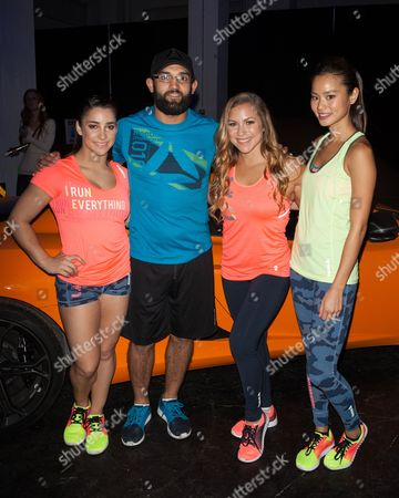 Alexandra Raisman, Johny Hendricks and Jamie Chung, Allison Hagendorf