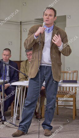 Editorial picture of Meeting to discuss Celtique application for fracking, Wisborough Green village hall, West Sussex, Britain - 31 Jan 2014