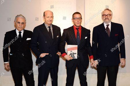 Stock Image of Wayne Maser, Marco Voena, Lapo Elkann and Edmondo di Robilant