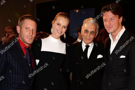 Stock Photo of Lapo Elkann, Eva Herzigova, Wayne Maser and Gregorio Marsiaj