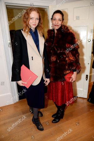 Lily Cole and Marpessa Hennink