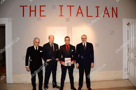 Wayne Maser, Marco Voena, Lapo Elkann and Edmondo di Robilant