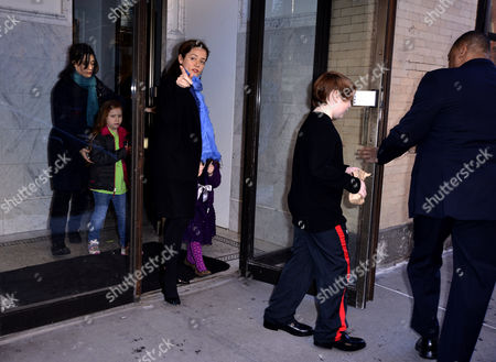 Mimi O'Donnell and children, Tallulah Hoffman, and Willa Hoffman, Cooper Hoffman