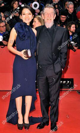 Stock Photo of Ko Ah-seong and John Hurt