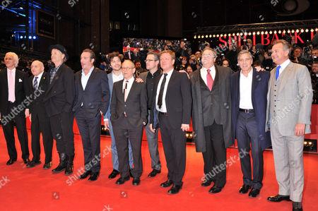 Justus von Dohnanyi, Hugh Bonneville, Dimitri Leonidas, Bob Balaban, Bill Murray, John Goodman, George Clooney, Jean Dujardin and Matt Damon