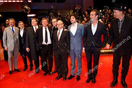 Hugh Bonneville, George Clooney, John Goodman, Justus von Dohnanyi, Matt Damon, Bob Balaban, Dimitri Leonidas, Jean Dujardin, Bill Murray