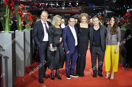 Stellan Skarsgard, Bente Froge, Lars Von Trier, Uma Thurman, Christian Slater and Stacy Martin