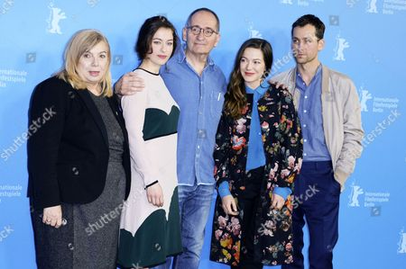 Producer Uschi Reich, actress Henriette Confurius, director Dominik Graf and actors Hannah Herzsprung and Florian Stetter
