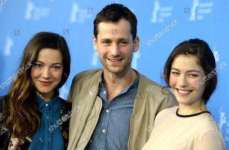 Hannah Herzsprung, Florian Stetter and Henriette Confurius