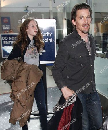 Editorial picture of Ethan Hawk at the Los Angeles International Airport, America - 09 Feb 2014