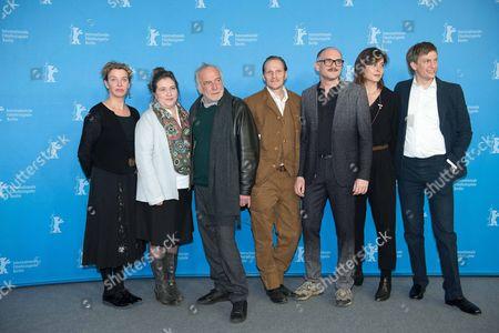 Stock Picture of Margarita Broich, Maria Hofstaetter, Andre Wilms, Georg Friedrich, Markus Schleinzer, guest and Benjamin Heisenberg
